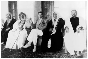 Haji Yusuf Bin Ahmed Kanoo (far Right) With Jacques Cartier And A Group Of Pearl Merchants From Bahrain
