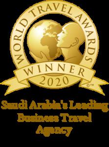 Saudi Arabias Leading Business Travel Agency 2020 Winner Shield 256