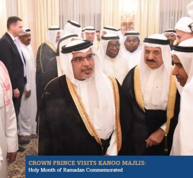 Crown Prince Visits Kanoo Majlis