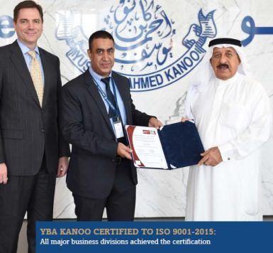 YBA KANOO CERTIFIED TO ISO 9001 2015